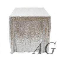 New sale silver sequin embroidery table cloth for wedding/events