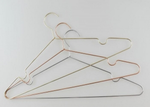 China Personalized Slim Metal Clothes Hangers Copper Wire Coat Hangers Bulk on sale