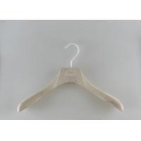 Engraved Logo Commercial Coat Hangers , Jacket Coat Hangers With Anti Slip Large Hooks