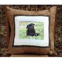 China Pug Black Pillow on sale