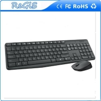 China 2.4g Logitech Wireless Black Keyboard Mouse Kit on sale