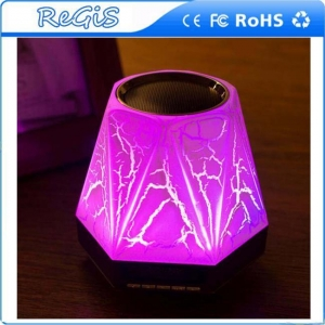 China Creative Colorful Bluetooth Wireless Speaker With Alarm Clock And LED Nightlight Intelligent on sale