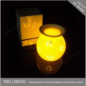 China Ceramic electric aroma lamps oil burner-WNE13112 on sale