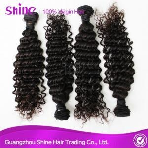 China Deep Wave Weave Bundles With Closure Pictures on sale