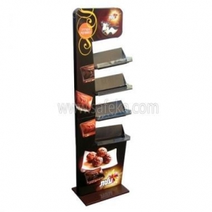 China Christmas Design Multi-tire Floor Cardboard Tray Rack Display Stand for Promotion FSDU1852 on sale
