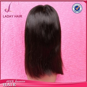 China Silky Straight Full Lace Wig Natural Black Color on sale