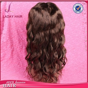 China Body Wave Full Lace Wig Dark Brown Color on sale