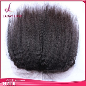 China 13*6 Inch Kinky Straight Lace Frontal on sale