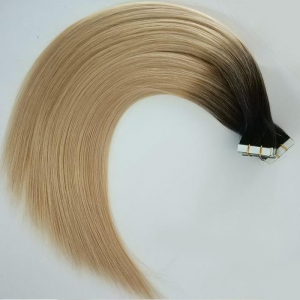 China Top Quality Tape in Hair Double Drawn Australia Ombre Tape Hair Extension Thick Ends on sale