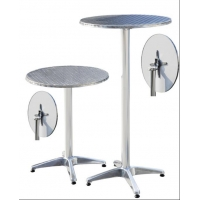 China Adjustable Round Aluminum Bar Table With Two Height Options on sale