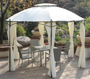 China Dome Roof Shaped Gazebo Tent With Side Walls For Patio on sale