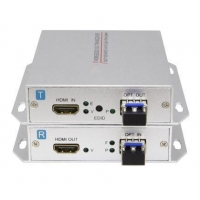 China HDMI over fiber optic video converter transmitter and receiver set on sale