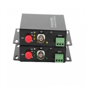 China CCTV Video to Fiber 1-Channel RS485 Video Transmitter/Receiver fiber optic vedio converter on sale