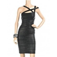 China Celebrity High Fashion Metallic Bandage Dress on sale