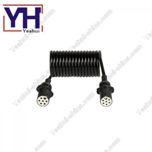China 7 Pin 12V ISO3732 Trailer Wiring Harness For Towing And Towed Vehicles YH6105-2 to YH6105-2 on sale