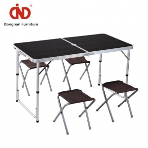 China Outside Cheap Garden Table and Chairs,Camping Table with 4 Seats on sale
