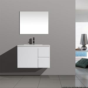 China Australia Market Wall Mount White Lacquer Modern Bathroom Vanity on sale