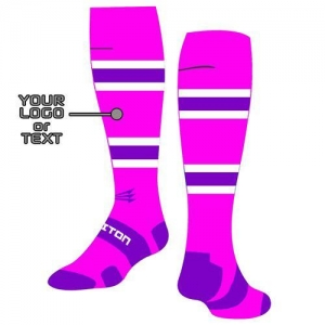 China Pink Long Baseball Socks Custom Design on sale