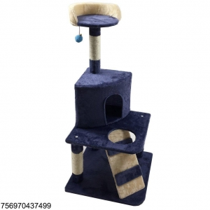 China Pelay Cat Tree Condo Furniture Kitten Scratcher Play House Pet Scratching Post (Blue) on sale