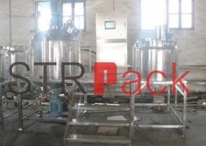 China 1000L Lab Vacuum Emulsifying Mixer for cosmetic, liquid soap mixer on sale
