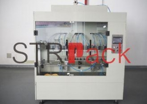China Anti Corrosive Liquid Filling Machine With Teflon , Bleaching Detergent Disinfection on sale