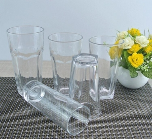China 12 oz water glasses cheap clear drinking cups quality everyday drinking glasses wholesale on sale