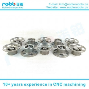 China 10 Inch Aluminum Alloy Stair Climbing Robot Wheel Hub CNC Machining on sale
