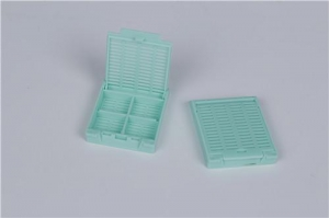 China Plastic Tissue Embedding Cassette Strip Holes Removable Lid on sale