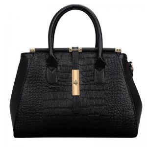 China Classic Stylish Crocodile Texture Ladies Leather Hand Bag on sale
