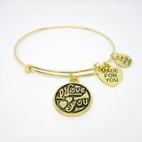 Simple bracelet designs expandable bangles manufacturer (Fashion jewelry manufacturer)