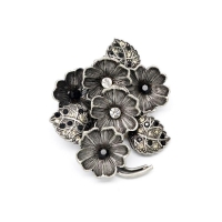 fashion vintage cheap in price flora brooch for decoration (bulk brooch)