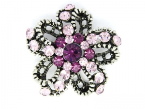China Antique silver plated rhinestone custom brooch (vintage brooch) on sale