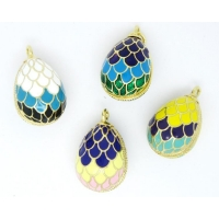 China Wholesale 3D Russia enamel Faberge egg pendant for necklace (Enamel jewellery) on sale