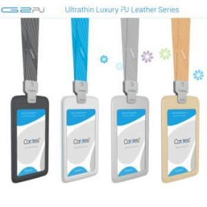 China G2PU Leather ID Card Holder Lanyard on sale