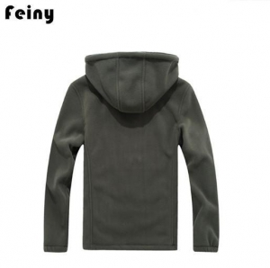 China Men Long Sleeve Hoodie Fleece Jacket on sale