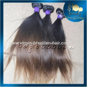 China High quality virgin human brazilian ombre straight hair on sale