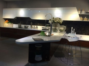 China different types of kitchen countertops Kitchen island artificial marble countertop BKCT-004 on sale