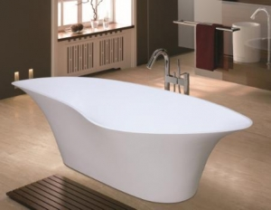 China solid surface bathtub surround Snow white solid surface bathtub BAT-001 on sale