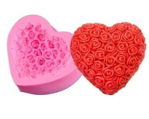China Pink 3D Handmade Silicone Rose Soap Molds for Wholesale on sale