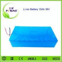 Long life cycle 26650 rechargeable 36v 15ah lifepo4 battery for E-bike