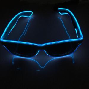 China party favors white frame el glasses/el wire glasses/el sunglasses on sale