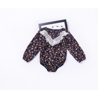 long sleeve fall winter trendy cute baby girl rompers suits clothes