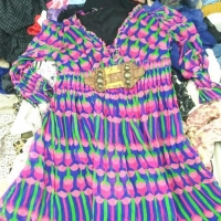 China Lady Silk Dress Manufacture Second Hand Clothes on sale