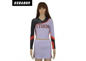 China Full Sublimation Youth Cheerleading Uniforms Breathable Multi Color For Girls on sale