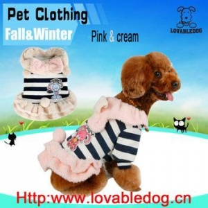 China wholesale china 2016 new Pet Clothes Sweet Lovely Plush Tutu Pet Dog Clothes Cat Pet Winter Clothes on sale
