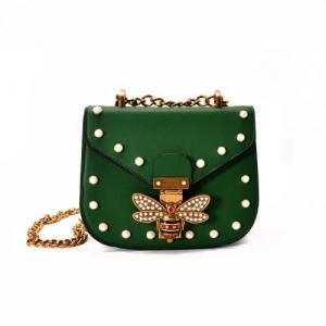 China Fashion Women Lady Leather Shoulder Bag Handbag Rivet Decoration Girl Lovely Shoulder Bag on sale