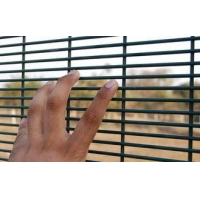 China Q235 Steel Wire Mesh Security FencingFlat Panel PVC Coated ISO Certificated on sale