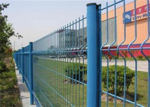 China 3D Folded Wire Metal Fence 50x200mm , Pvc Welded Wire Fence For Boundary Wall on sale