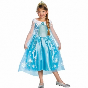 China 2017 Funy Frozen Elsa Child Halloween Costumes on sale