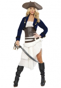 China Female Sexy Authentic Capitan Hook Pirate Costume on sale